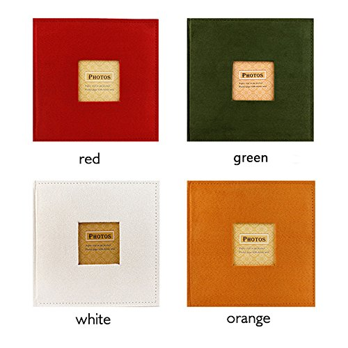 Great Circle Photo Albums Velvet cover 4R/6 inch paper core insert album (white) by Great Circle (Image #3)