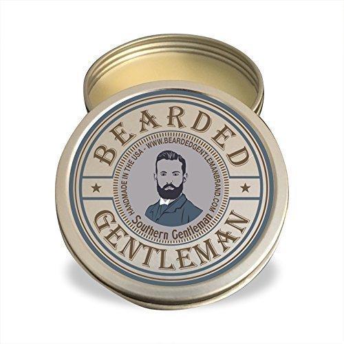 Solid Pecan (Beard Balm by Bearded Gentleman: Bourbon Pecan Pie | All Natural Beard Conditioning Balm | 2 oz | Handmade)