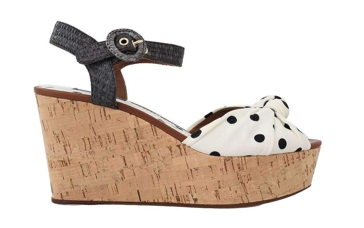 - White Black Wedges Platform Sandals