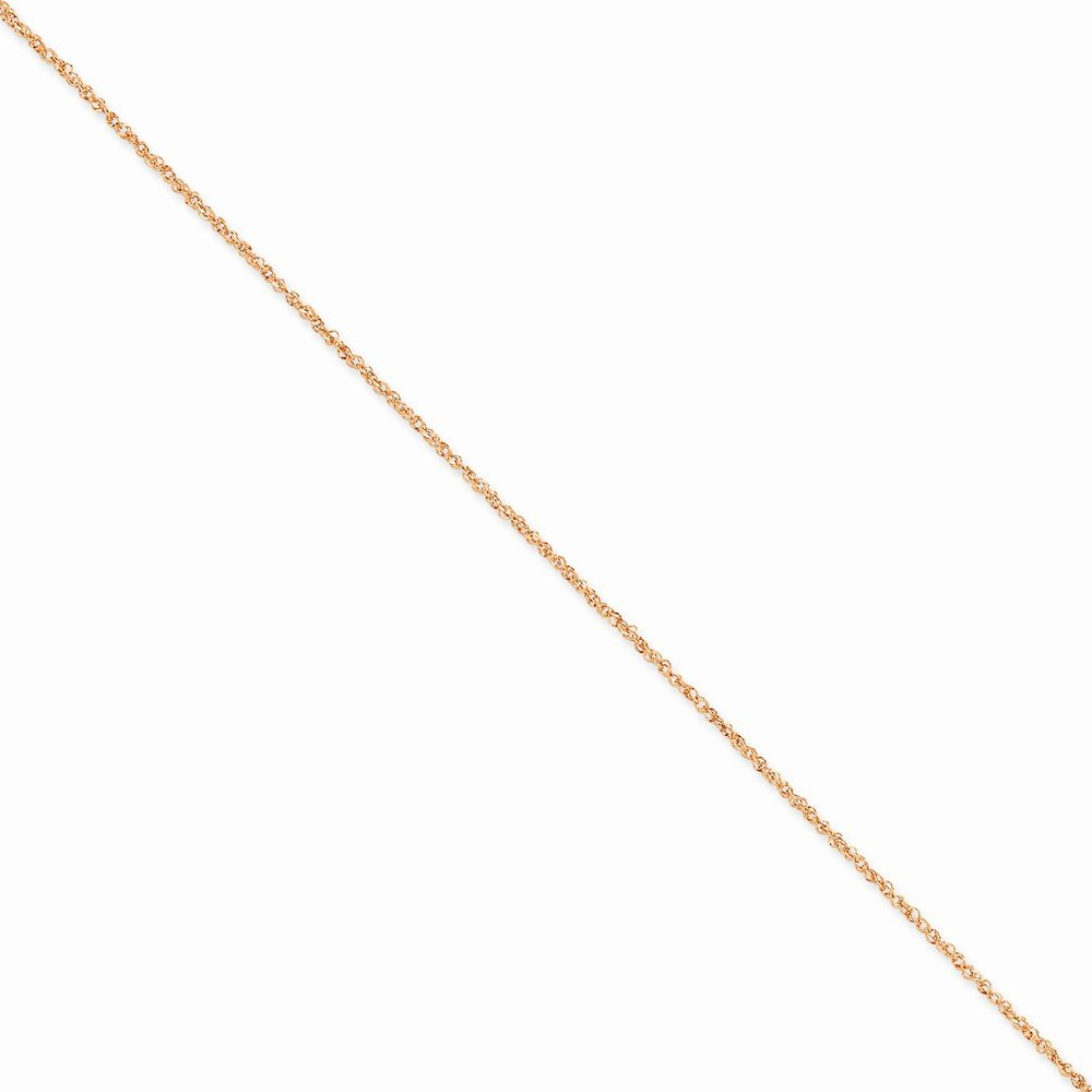 14K Rose Gold 1.7mm Ropa Chain Anklet RSC28-9