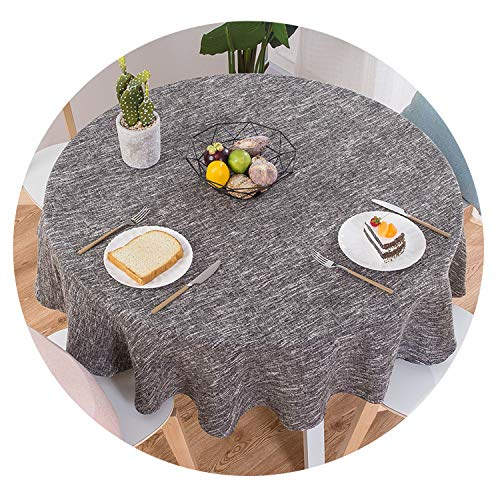 (Be fearless Table Cloth Round Wedding Party Table Cover Cotton Linen Tablecloth Nordic Tea Coffee Tablecloths Home Kitchen Decor,D,200CM Diameter)