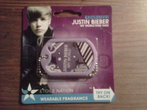 EXCLUSIVE Justin Bieber MY WORLD WEARABLE FRAGRANCE DOG TAGS - WEB STYLE! (Bear Bieber Justin)