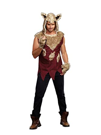 dreamgirl mens big bad wolf costume multi colored medium - Wolf Costume Halloween