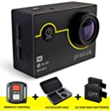 Procus Rush 4K Wifi Sports Action Camera Ultra Hd Waterproof Dv Camcorder 16Mp 170 Degree Wide Angle 2 Inch Lcd Screen/2.4G Remote Control/2 Rechargeable Batteries/ 20 Accessories