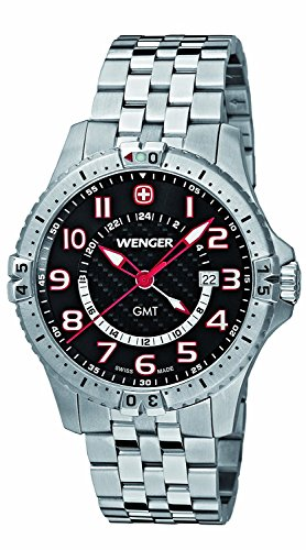 WENGER watch Sukuadoron GMT 77076 men's [regular imported goods]