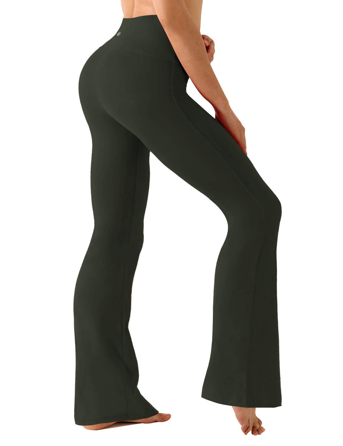 BUBBLELIME Bootleg Yoga Pants High Compressions Running Capris UPF30+ Active Tights Workout Capris by BUBBLELIME