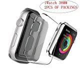Cheap Sibode Apple Watch Series 1 38MM Case, 2-Pack Ultra HD Full Coverage Screen Protective Cover – Clear PC Hard Case for Apple Watch Series 1 iWacth (iWatch-38MM)