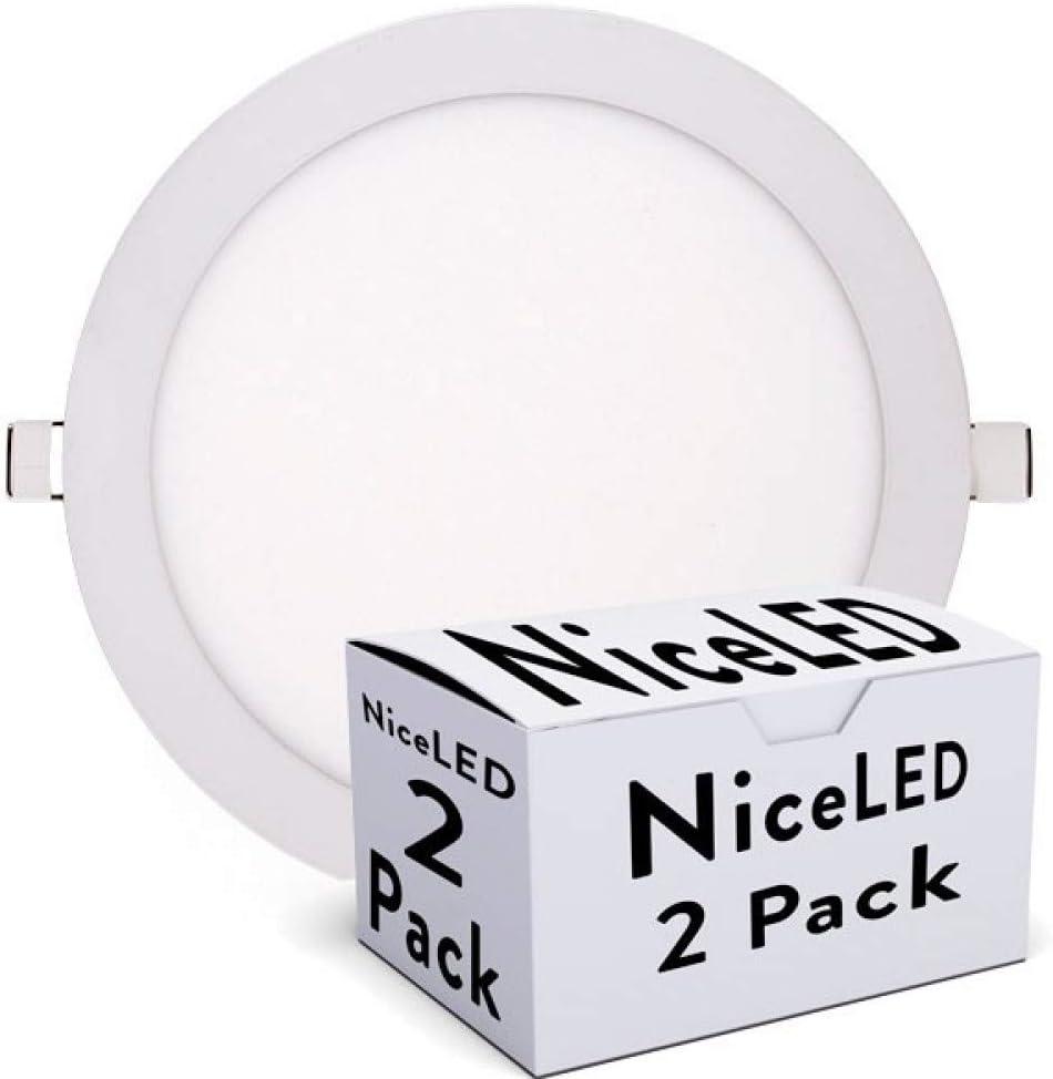 Greenice | Pack 2 Placa de LEDs Circular Ecoline 240Mm 20W 1600Lm 30.000H | Blanco Frío