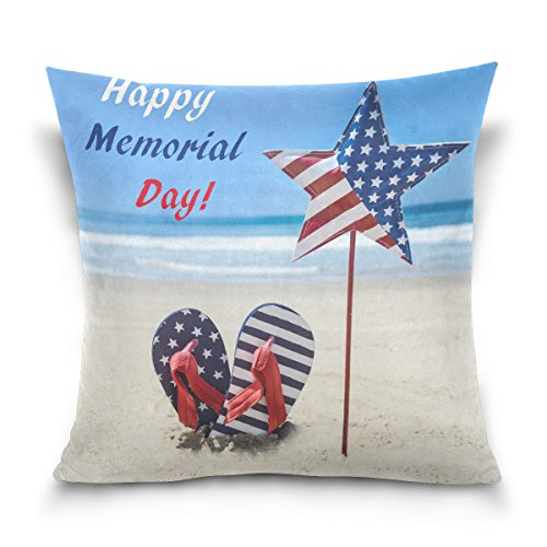 ALAZA Double Sided Happy Memorial Day Patriotic American Fla
