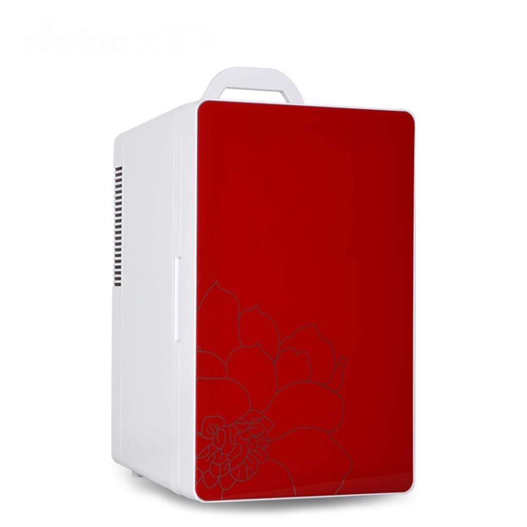 GJM Shop 16Lシングルドアデュアルコア冷蔵ポータブルハンドルピクニック用冷蔵庫強化ガラスミラーカー冷蔵庫車12V /ホーム220V二重ミニ冷蔵庫新鮮な寮の冷蔵庫を保つ32 * 26 * 42.5cm -青/赤 (色 : Red, サイズ さいず : 32 * 26 * 42.5cm) 32*26*42.5cm Red B07G6WV42Q