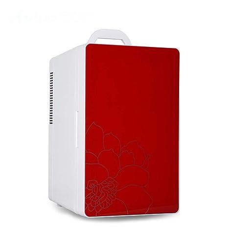 HAIZHEN refrigerador 16L Puerta Sencilla Refrigeración De Doble Núcleo Refrigerador De Picnic Con Manija Portátil Espejo
