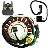 Ignition Coil Starter Relay Magneto Stator for 2004 2005 2006 2007 2008 2009 2010 2011 2012 2013 Yamaha Raptor 350 YFM 350