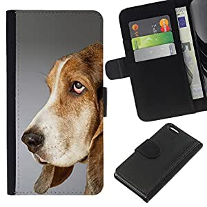 eJoy---La carpeta del tirón la caja de cuero de alta calidad de la PU Caso protector - Apple iPhone 5C - --Pointer Dog English Foxhound