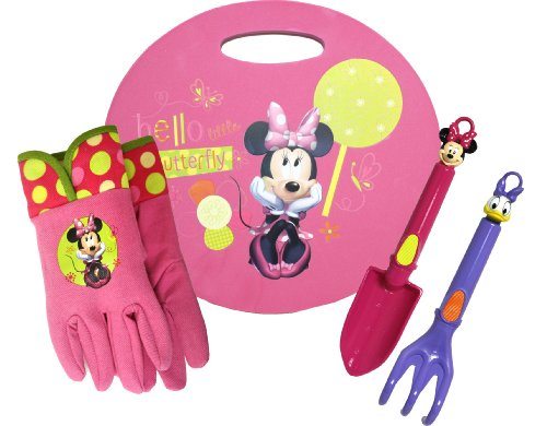 Disney-Minnie-Mouse-Kneeling-Pad-and-Garden-Tool-Set-Combo-Pack-MY14P04-Size-Kids