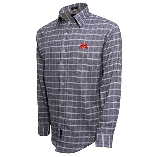 - Vesi NCAA Minnesota Golden Gophers Adult Men's Brushed Cotton Shirt, XX-Large, Gray/White