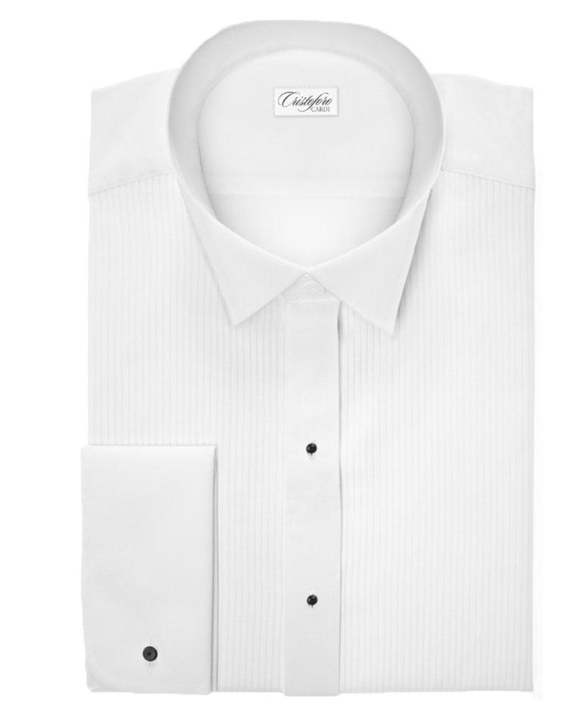 Swiss Pleat Wing Collar Tuxedo Shirt (X-Large (Collar 17.5 - Sleeve 34/35))