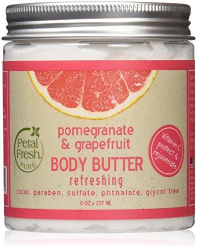 Petal Fresh Body Butter, Pomegranate/Grapefruit, 8 Ounce (Body Touch Butter)