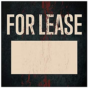 Ghost Aged Rust Window Cling 24x24 5-Pack CGSignLab for Lease