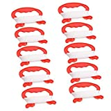 Xinlinke Pack of 10 Mini Small Kite Reel Winder Grip Line Board Red with 30m String for Kids Children Beginner Fly Tiny Kites