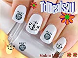 nail art seal - Military - Navy Anchor USN Nail Decals - WaterSlide Nail Art Decals - Highest Quality! Made in USA