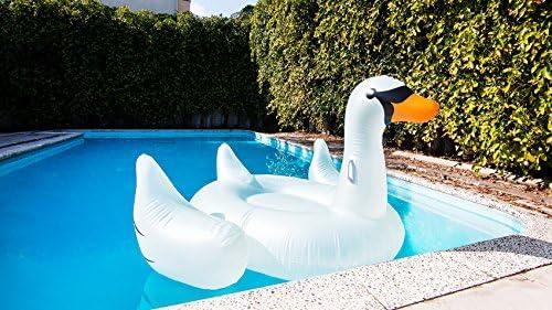 Amazon.com: Swimline - Cisne hinchable gigante: Jardín y ...