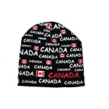 CANADA Black Country Flag With Titles Toque Hat .. New