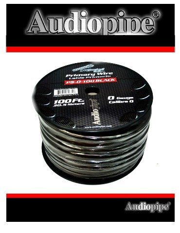 100 FT 0 GA BLACK POWER GROUND AUDIOPIPE COPPER MIX WIRE CABLE AMP INSTALL PS-0 by Audiopipe (Image #5)