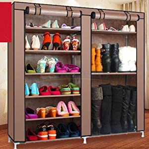 Amazon.com: Double Shoe Boot Closet Rack Shelf Storage Organizer ...