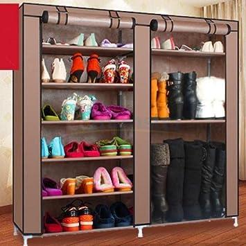 Double Shoe Boot Closet Rack Shelf Storage Organizer Cabinet Portable  9  Layer,by Vidali