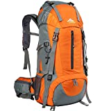 Loowoko Hiking Backpack, 50L Waterproof Travel Backpack Trekking Rucksack Mountaineering Backpack with Rain Cover for Men Women Outdoor Sport