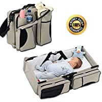 Boxum Baby 3 in 1 Portable Bassinet, Diaper Bag and Change Station with Fitte...
