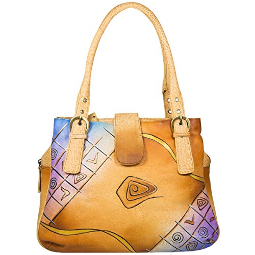 Greenland NATURE Art + Craft Sac à main - Fourre-tout cuir 36 cm bunt