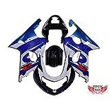 VITCIK (Fairing Kits Fit for Suzuki GSXR1000 K1 K2 2000 2001 2002 GSXR 1000 K1 K2 00 01 02) Plastic ABS Injection Mold Complete Motorcycle Body Aftermarket Bodywork Frame (Blue & Black) A013