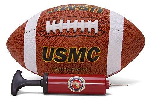(K's Novelties United States Marines Football w/Matching USMC Air Pump )
