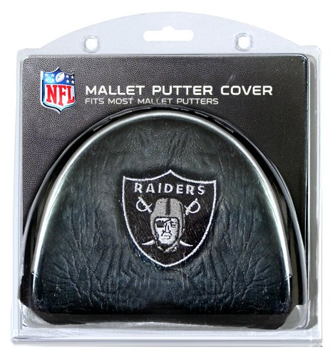 Team Golf NFL Oakland Raiders Golf Club Mallet Putter Headcover, Fits Most Mallet Putters, Scotty Cameron, Daddy Long Legs, Taylormade, Odyssey, Titleist, Ping, Callaway (Club Raiders Oakland)