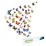 New Butterfly Wall Stickers 100PCS, Colorful Wall Decals in Beautiful Box, Best DIY Butterflies Home Wall Decor Vinyl Wall Art By CYWLife