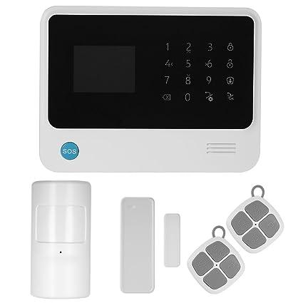 OWSOO 433MHz Sistema de Alarma Inalambrica WIFI + GSM + GPRS SMS Marcación Automática Pantalla LCD