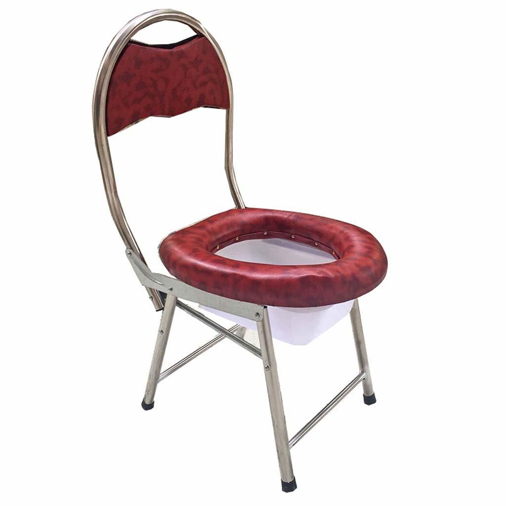 家庭の照明- 妊娠中の女性の高齢者のためのステンレススチール折りたたみ可動式トイレ柔らかい座席33 * 37 * 76cm B07DK827FC