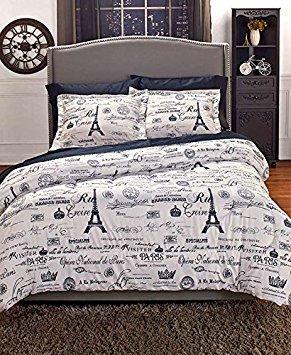 (2-Pc. Twin Vintage Paris Comforter Set)