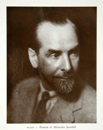 1946-print-alexandre-jacovleff-russian-portrait-beard-artist-designer-etcher-original-halftone-print