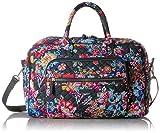 Vera Bradley Iconic Compact Weekender Travel Bag, Signature Cotton, pretty Posies