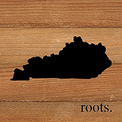 "Second Nature By Hand 6 x 6"" Natural Reclaimed Kentucky Roots Wood Sign, Small"