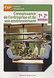 Connaissance de l'entreprise et de son environnement : 1e 2e années CAP cuisine restaurant