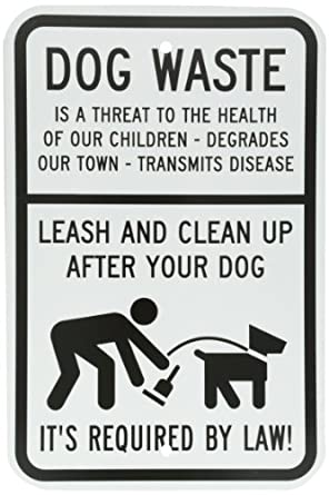 dog signs for house smartsign aluminum sign legend dog waste leash and clean up