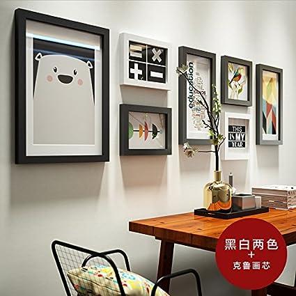 HJKY Photo Frame parete soggiorno moderno decorato foto di parete in ...