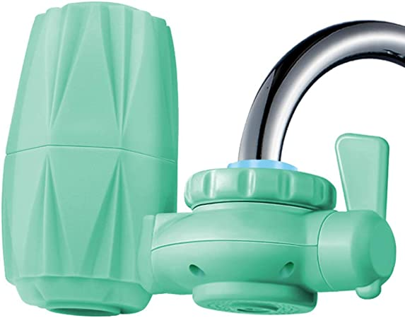 QIAOQ Filtro de Agua del Grifo ABS Verde Hogar Cocina Purificador de Agua Frontal Multi Capa Filtros cerámicos Cartucho Filtro de Agua del Grifo: Amazon.es: Hogar
