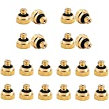 20 Pack Brass Misting Nozzles Replacement Heads, Low Pressure Atomizing Misting Sprayer for Patio Lawn, Landscaping, Dust Control, Outdoor Cooling Mister System, 0.012