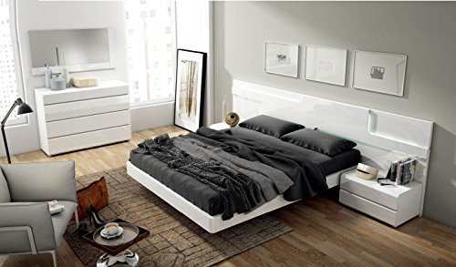 Modern Contemporary King Size Bed Set Sara by Garcia Sabate, Spain by Garcia Sabate