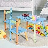Costway Children Table Chair Set Wooden Kids Nursery Furniture Set In/Outdoor Home