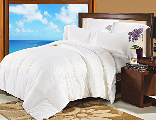 Natural Comfort Soft and Luxurious 300TC Sateen White Down Alternative Duvet Insert, King